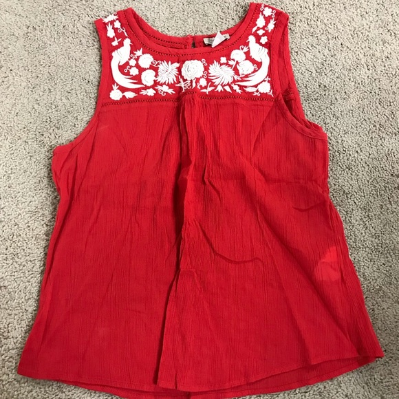 Lucky Brand Tops - Lucky Brand Red Tank Top - Like New Never Worn